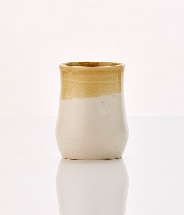 **Margaret Westcott sage ceramic beaker - $24** [Buy it here.](http://sorrythanksiloveyou.com/margaret-westcott-sage-ceramic-beaker)  Each of Margaret Westcott's ceramic pieces is developed and made in her studio at Pearl Beach on the New South Wales Central Coast, and each and every piece is slightly different. This beaker is suitable for use every day or on special occasions, and is as suited to cold drinks as it is to coffee or tea.