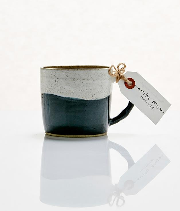 **Rita Mu mountain range mug - $50** [Buy it here.](http://sorrythanksiloveyou.com/rita-mu-mountain-range-mug)  Relax, unwind and zen out with your favourite tea or coffee in this handsome mug from Rita Mu. Handmade on the pottery wheel from speckled stoneware clay, the Mountain Range mug features a textured handle and a simple modern design.  Each mug is one of a kind and handmade in Sydney, Australia.