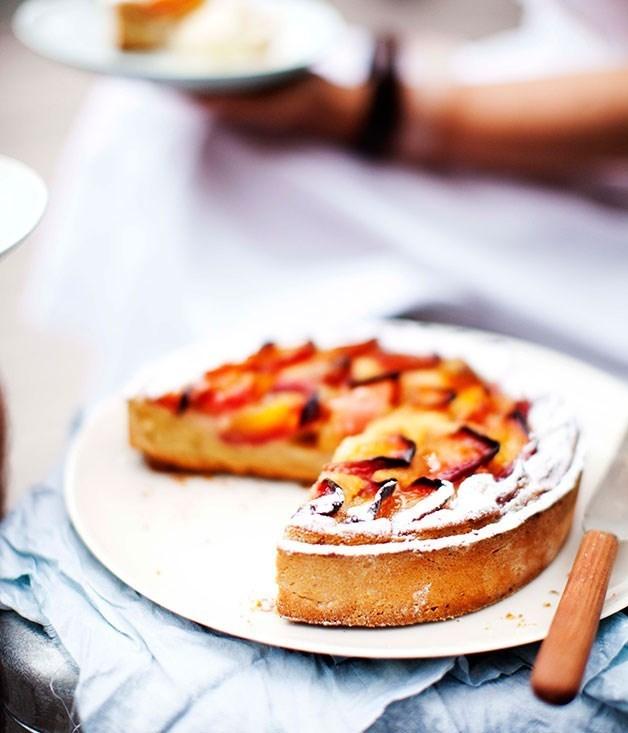 **Dietmar Sawyere's nectarine and frangipane tart**
