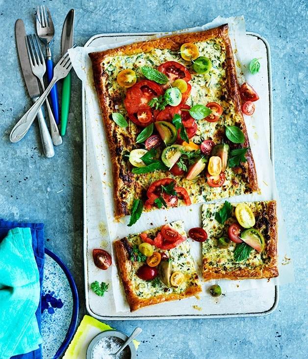 **Tomato and ricotta tart**