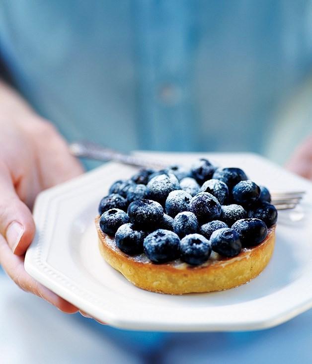 **Serge Dansereau's blueberry vanilla tart**