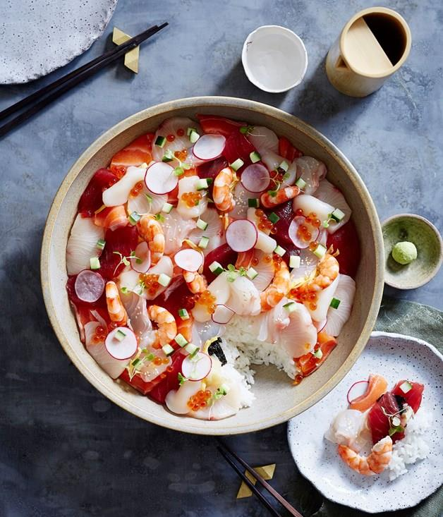 "[**Chirashi zushi**](https://www.gourmettraveller.com.au/recipes/browse-all/chirashi-zushi-14232|target=""_blank"")"