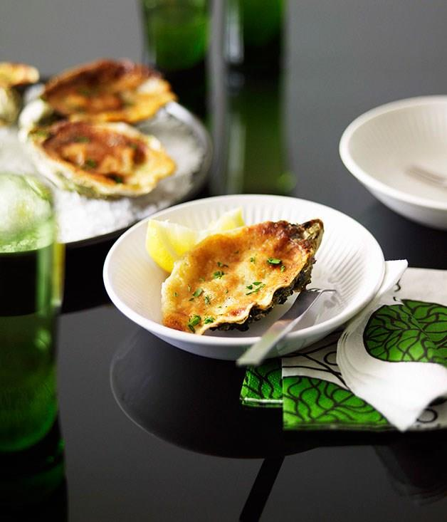 "[**Oysters baked with horseradish and parmesan**](https://www.gourmettraveller.com.au/recipes/chefs-recipes/oysters-baked-with-horseradish-and-parmesan-8876|target=""_blank"")"
