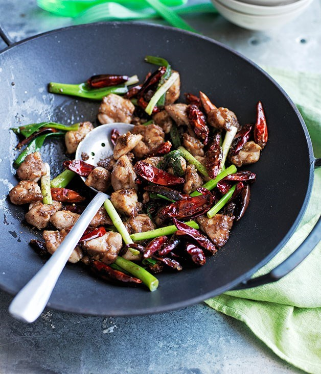 **Stir-fried chicken with Sichuan pepper and chilli**