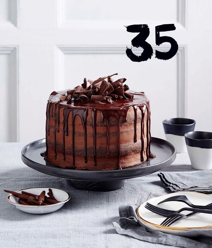 **Chocolate truffle layer cake**