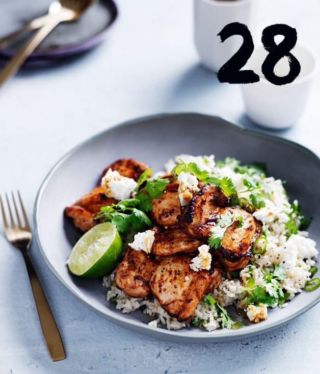 **Chipotle-spiced chicken with Mexican green rice**
