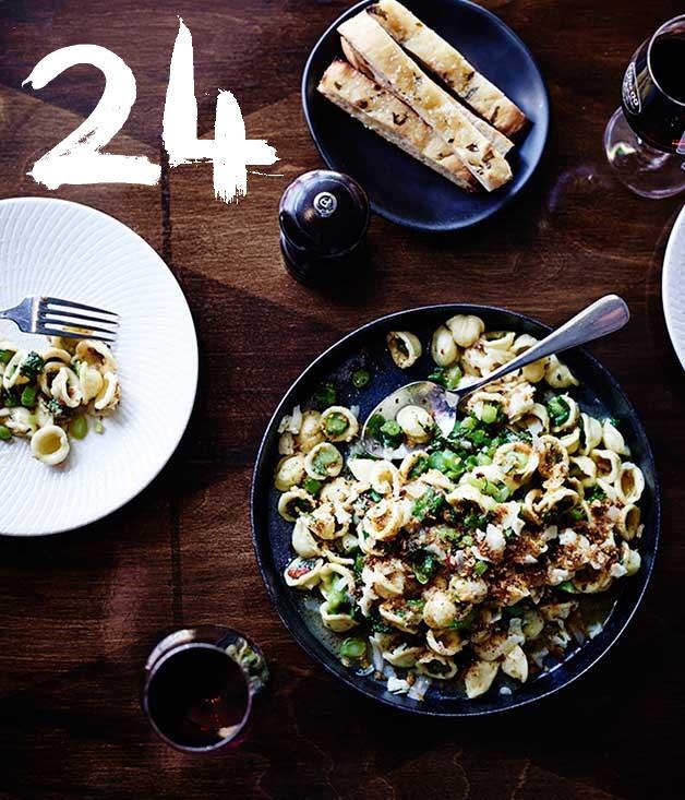**Tipo 00's Orecchiette with broccolini, anchovy, garlic, chilli and Asiago**
