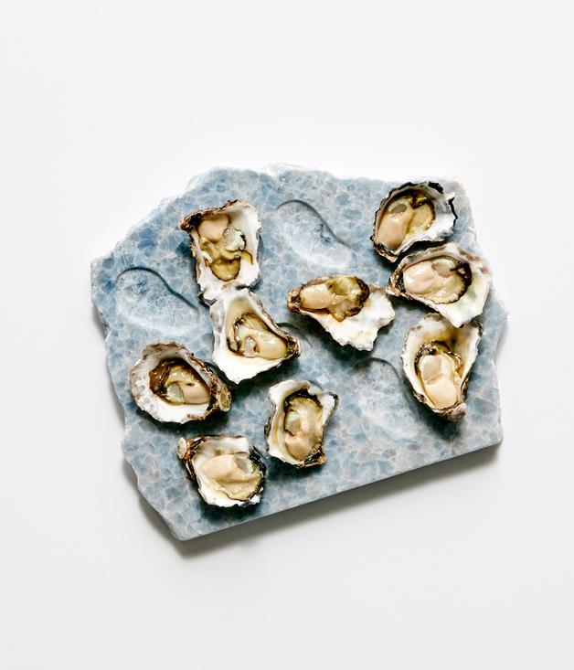 **Crystal blue oyster tray by The Seasonal Circle** Add a touch of elegance to any Christmas spread with The Seasonal Circle's blue crystal marble oyster tray. Chilling the marble in the freezer for a few minutes before serving ensures the oysters stay cool and fresh.  _$325, available at [theseasonal.com](http://theseasonal.com) or [online through our pop-up boutique](http://sorrythanksiloveyou.com/the-seasonal-circle-oyster-tray), open until 18 December._