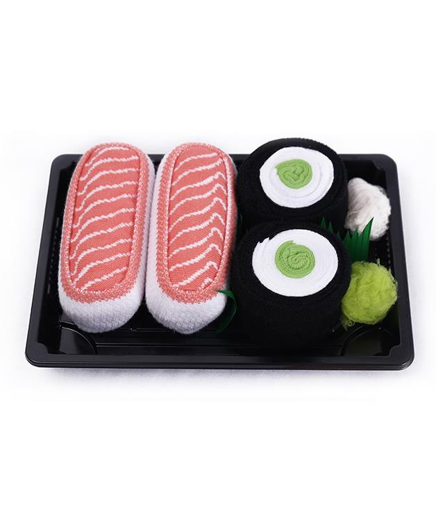 **Sushi Socks Box, Tuna and Maki Cucumber** Just when we thought we'd become jaded by novelty Christmas gifts, along came the Sushi Socks Box. The socks are artfully arranged to resemble pieces of salmon nigiri or sushi maki, and are even adorned with ginger and wasabi. Christmas kitsch has never been so kawaii.      _2 Pairs for $28.42, [sushisocksbox.com](http://www.sushisocksbox.com)_