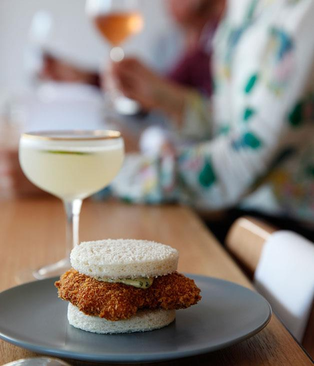 **Veal sweetbread schnitty sanga, Fleet** The perfect bar snack for a perfectly outré wine bar? It'd have to involve something fried. It would want to be a sandwich. There ought to be anchovies involved, possibly in a mayonnaise. And it'd need a clever twist. We give you Fleet's schnitzel sandwich: rounds of soft white bread enfolding hot, golden-crumbed veal sweetbreads and a lick of anchovy mayo. Just add wine. _[Fleet](http://fleet-restaurant.com.au/), 2/16 The Terrace, Brunswick Heads, NSW, (02) 6685 1363_