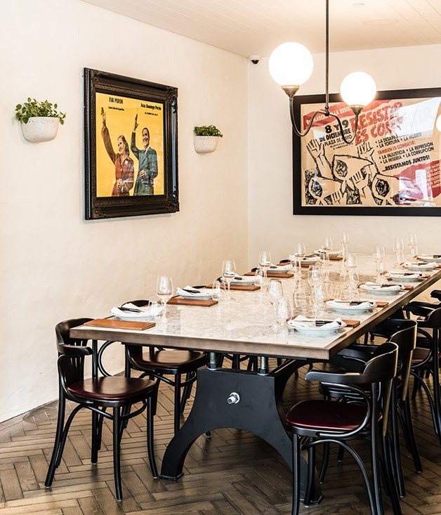 **Dining in groups** The large table for 12 is available for large group bookings; the area can be cordoned off to create a private dining space and the menu also offers banquet menus at either $80 or $120 per person.