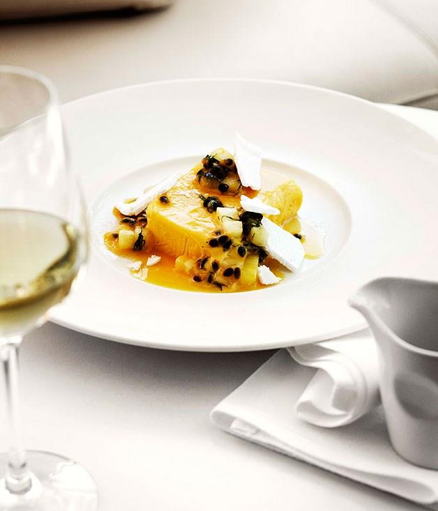 """[**Mango and yoghurt parfait with passionfruit and pineapple salad**](https://www.gourmettraveller.com.au/recipes/chefs-recipes/mango-and-yoghurt-parfait-with-passionfruit-and-pineapple-salad-7791