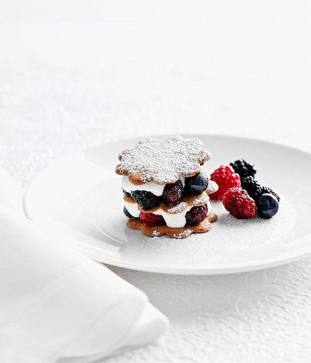 **Berries and elderflower yoghurt sandwiches**
