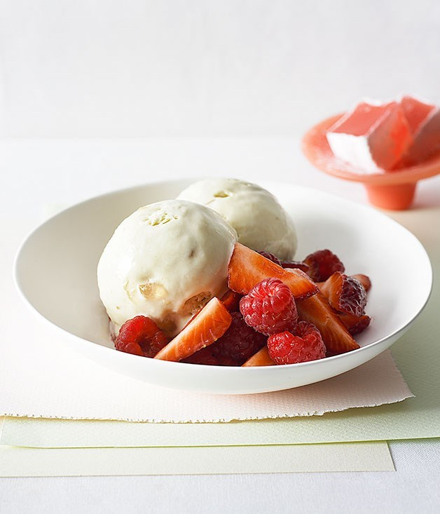 **Turkish delight semifreddo with berries**