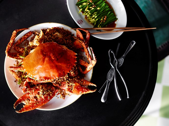 Typhoon shelter crab at Queen Chow.