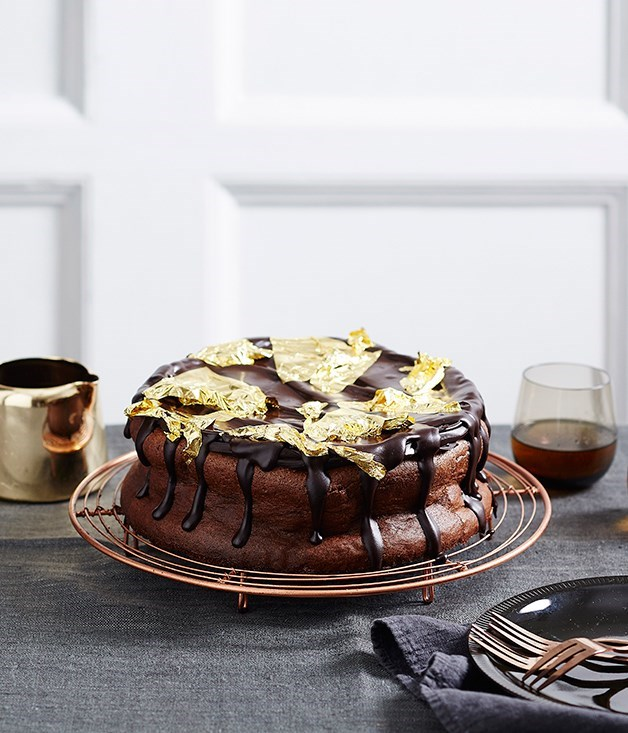 **Rich chocolate mousse cake**