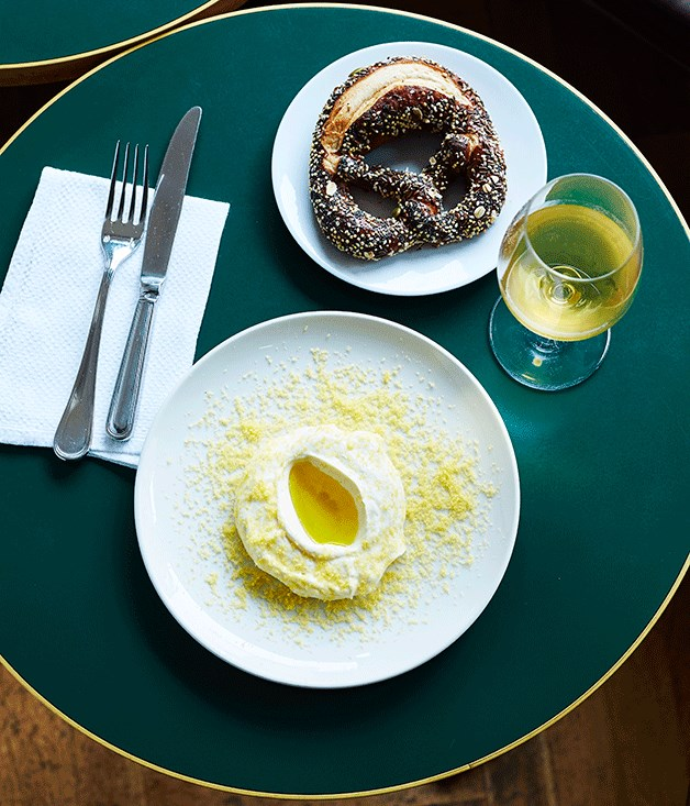**Pretzel and whipped bottarga, 10 william St** Chef Dan Pepperell may have jumped ship to [Hubert](http://www.gourmettraveller.com.au/restaurants/restaurant-reviews/2016/6/restaurant-hubert-sydney-review/), but his pretzel with bottarga remains a stalwart on the 10 William St menu.  Photography: John-Paul Urizar  Stylist: Aimee Jones    [Featured in 50 dishes that define Australian dining in 2016](http://www.gourmettraveller.com.au/restaurants/restaurant-galleries/2016/12/australias-best-dishes-2016/pretzel-and-whipped-bottarga-10-william-st)