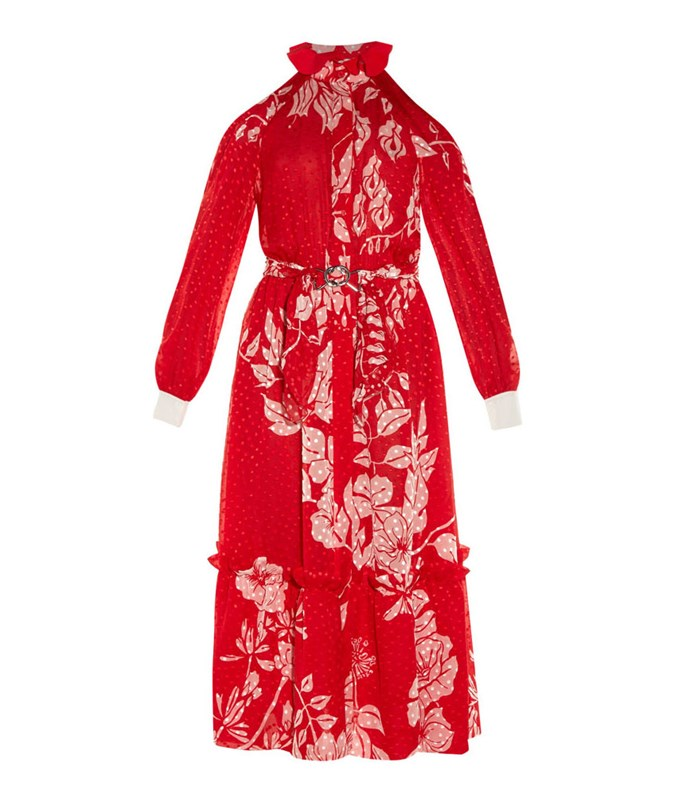 **Fendi Floral-Print Plumetis-Chiffon Midi Dress** Dress for the occassion in a festively floral dress.  $5170, from [Matches Fashion](http://www.matchesfashion.com/au/products/1072041)
