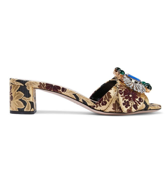 **Miu Miu Embellished Brocade Mules** Practical and party-ready. Tick, tick.  _$1270, [from Net-a-Porter](https://www.net-a-porter.com/au/en/product/761430/Miu_Miu/embellished-brocade-mules)_