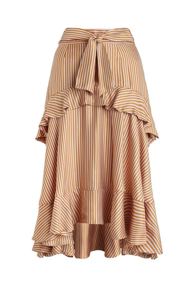 **Zimmermann Winsome Flounce Skirt** A skirt with all the frills.  _$675, from [zimmermannwear.com](https://www.zimmermannwear.com/new-arrivals/winsome-flounce-skirt-amber-nude.html)_