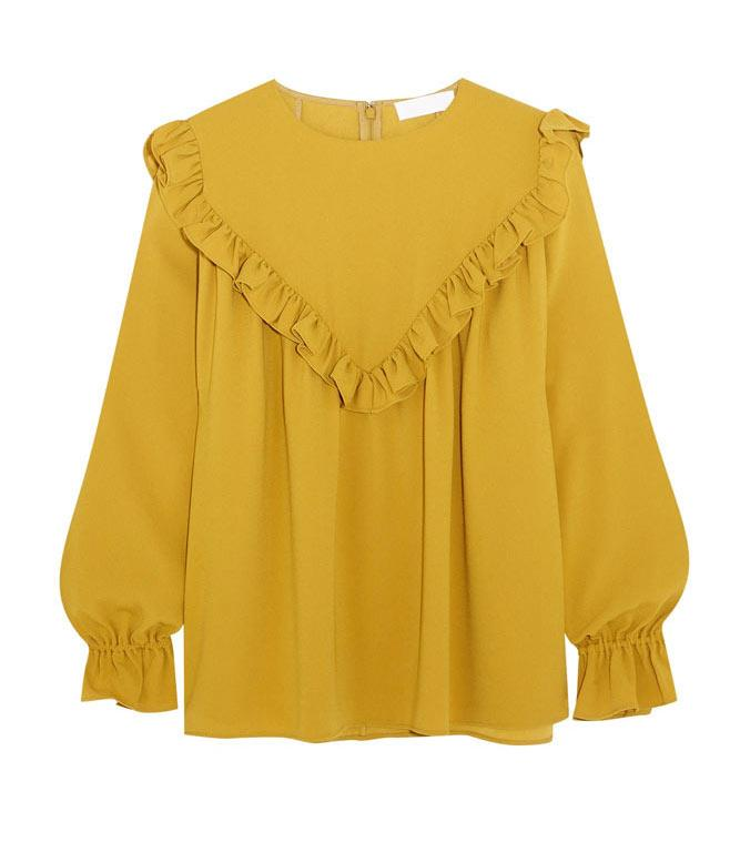 **Co Ruffled Crepe Blouse** Christmas Day is an opportune time for statement dressing.  _$872, [from Net-a-Porter](https://www.net-a-porter.com/au/en/product/797981/co/ruffled-crepe-blouse)_