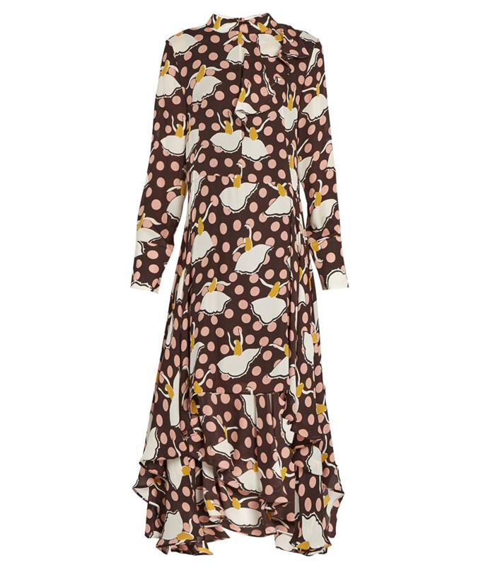**Marni Pirouette-Print Silk-Georgette Dress** Marni's statement prints make for perfect festive dressing.   _$1635, from [Matches Fashion](http://www.matchesfashion.com/au/products/Marni-Pirouette-print-silk-georgette-dress-1058154)_