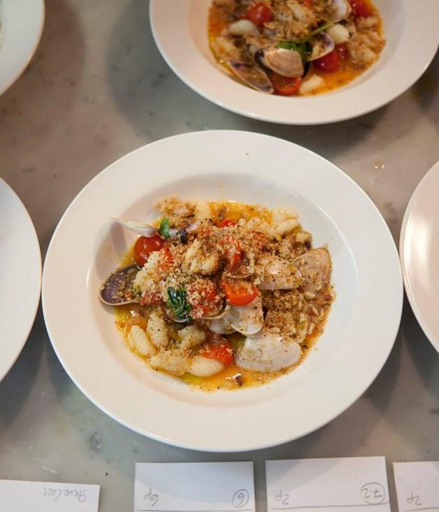 Cavatelli with tomatoes and clams at Wilmer.