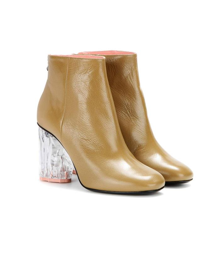 "**Acne Studios boots** Add interest with a pair of statement-heeled boots.  _Acne Studios ""Ora"" glass embellished leather ankle boots, $1100, from [My Theresa](http://www.mytheresa.com/en-au/ora-glass-embellished-leather-ankle-boots-613161.html)_"