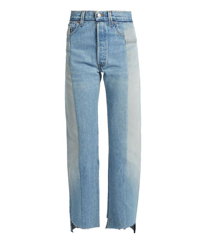 **Vetements jeans** These jeans-of-the-moment aren't going anywhere fast.  _Vetements reworked high-rise straight-leg jeans, $1,421, from [Matches Fashion](http://www.matchesfashion.com/au/products/1065801)_