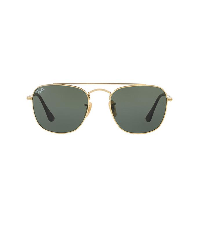 **Ray-Ban sunglasses** Stick to a classic, flattering shape for frames.  _Ray-Ban square metal sunglasses, $200, from [Sunglass Hut](http://www.sunglasshut.com/au/8053672679083)_