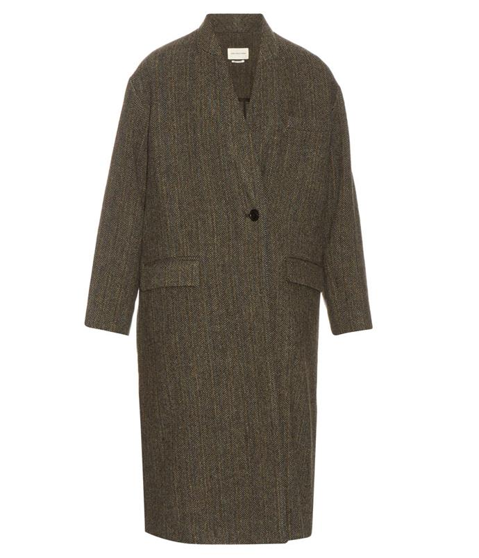 "**Isabel Marant Étoile coat** Go for a cover-all overcoat in a classic hue.  _Isabel Marant Étoile ""Henley"" virgin-wool tweed coat, $940, from [Matches Fashion](http://www.matchesfashion.com/au/products/1059565)_"