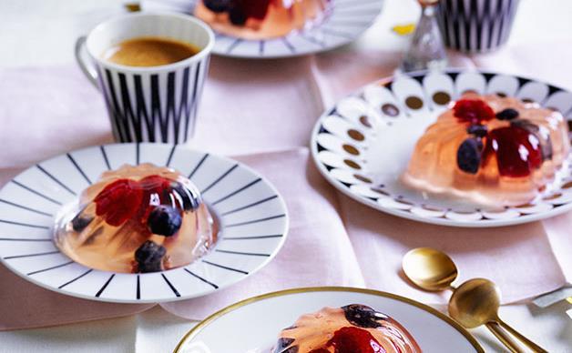 Elderflower, Champagne and berry jellies