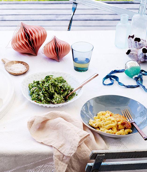 "**[Paul Carmichael's macaroni pie](https://www.gourmettraveller.com.au/recipes/chefs-recipes/paul-carmichaels-macaroni-pie-8540|target=""_blank"")**"