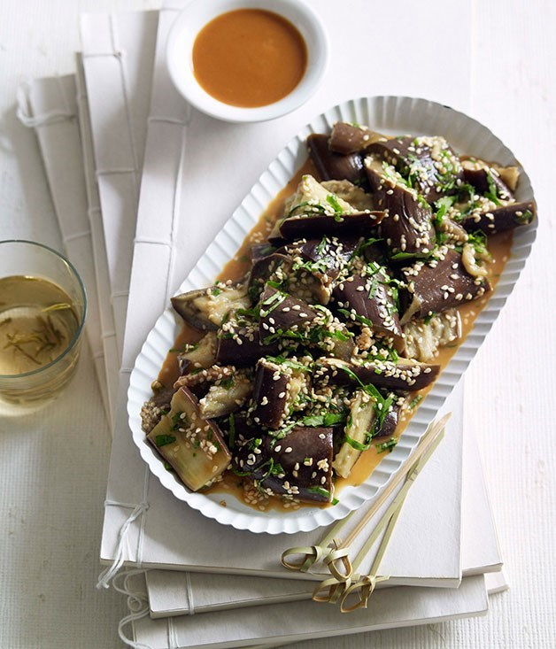 **Steamed eggplant Shandong-style**