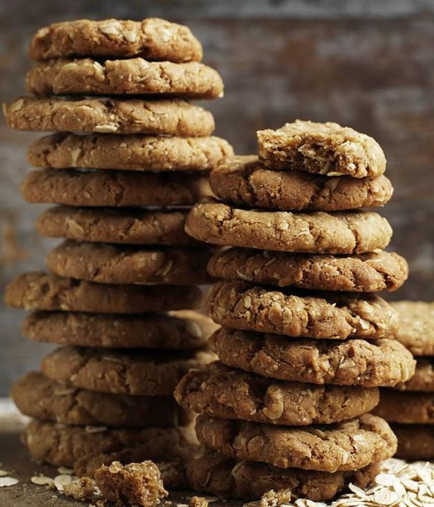 "[**Anzac biscuits**](https://www.gourmettraveller.com.au/recipes/browse-all/anzac-biscuits-12490|target=""_blank"")"