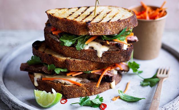 Banh mi-style steak sandwich