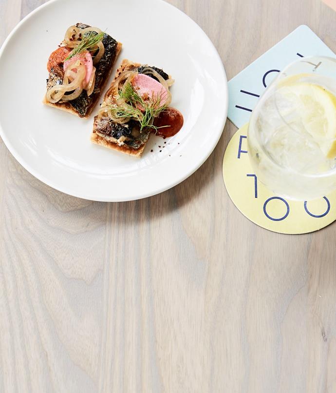 "[Pontoon's grilled sardines and harissa](http://www.gourmettraveller.com.au/recipes/chefs-recipes/pontoons-grilled-sardines-and-harissa-8553|target=""_blank"")"