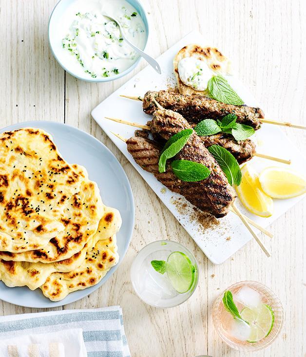 "**[Mela Indian's lamb seekh kebabs](https://www.gourmettraveller.com.au/recipes/chefs-recipes/mela-indians-lamb-seekh-kebabs-9295|target=""_blank""|rel=""nofollow"")**"