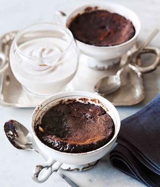 Self-saucing dessert recipes