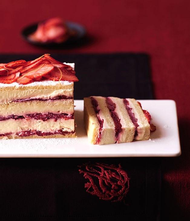 **Strawberry layer cake**
