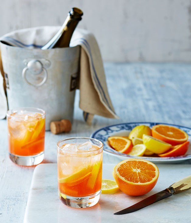 **Felix's St-Tropez Spritz** This is a French twist on the now classic Negroni Sbagliato, with the addition of Lillet Blanc and French sparkling wine.