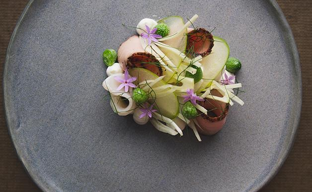 Troy Rhoades-Brown's pepperberry and wattleseed smoked pork loin