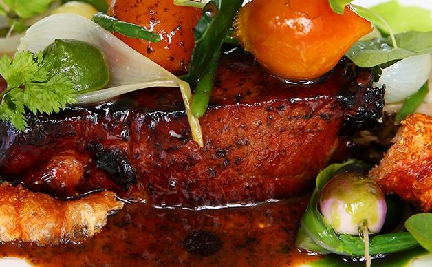 Monty Koludrovic's charcoal glazed pork neck