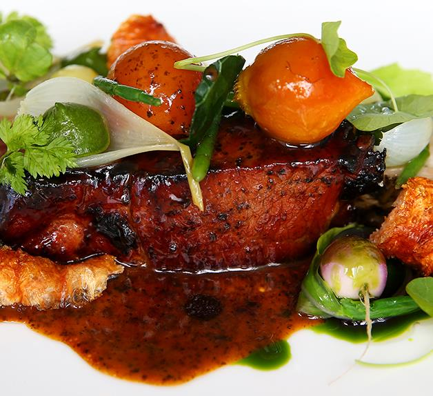 Monty Koludrovic's charcoal glazed pork neck