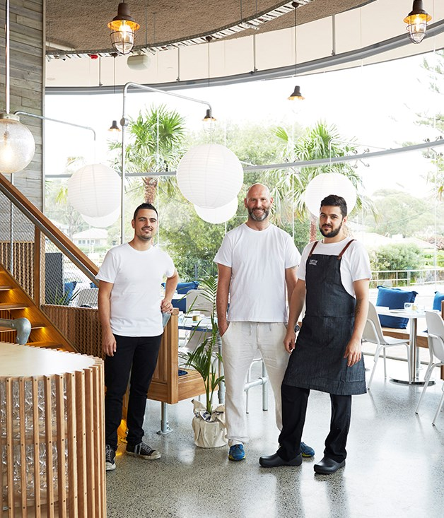 **Victor Moya, Alessandro Pavoni, Mattia Rossi** Team Ormeggio have opened a breezy new restaurant with seafood and a wood-fired oven a highlight. Here's a look inside. Stay tuned for our run-down.  Photos by Chris Chen.