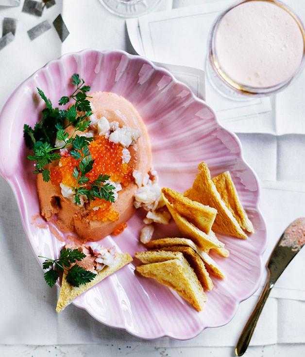 """[**Lobster mousse**](https://www.gourmettraveller.com.au/recipes/browse-all/lobster-mousse-12663