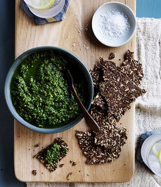 Pistachio and kale dip