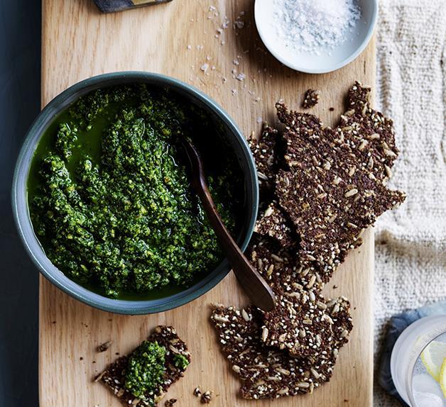 Pistachio and kale dip