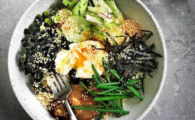 Seaweed, amaranth and brown rice bowl