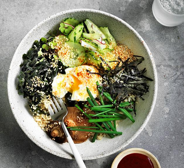 Seaweed, amaranth and brown rice bowl
